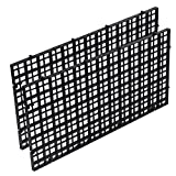 DAVEVY Aquarium Isolate Board,Isolation Net,Grid Isolate Filter Divider Fish Tank Bottom Filter Strainer Board,Divider Tray Crate(Black)