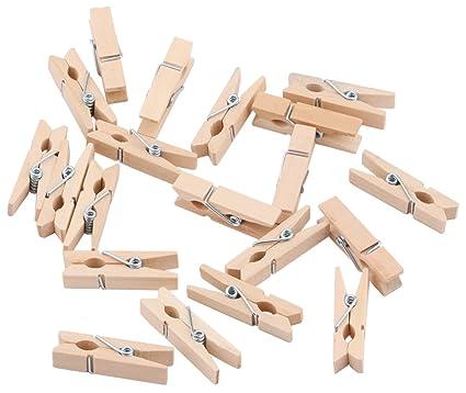 Amazon Com Dedoot Mini Clothespins Wooden Clips Natural Tiny
