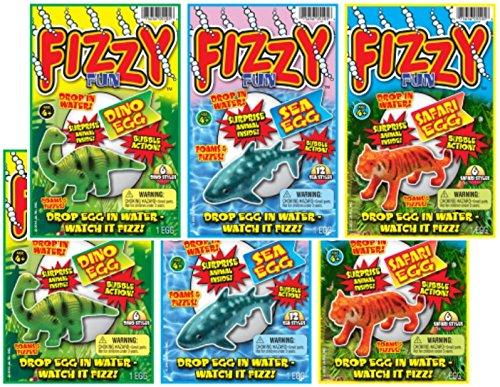 JaRu Fizzy Fun Animal Egg Bundle Pack Party Favor, Multi, One Size