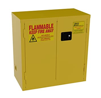 High Quality Jamco Products Inc BM22 YP Safety Flammable Cabinet, Two Door, Manual Close,