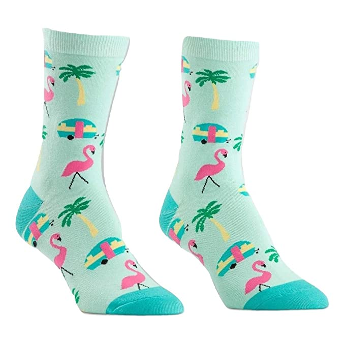 Sock It To Me Calcetines de Flamingo de Florida, Calcetines de Viaje. para Mujeres Talla 5-10 Verde: Amazon.es: Ropa y accesorios
