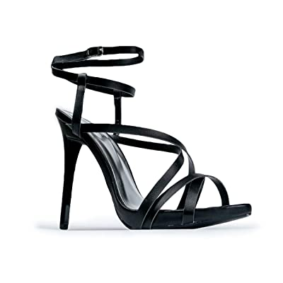 ZooShoo Womens Ankle Strap High Heel Sandals - Dress, Wedding, Party Heeled Shiny Pumps - Elegant, Comfortable & Strappy | Sandals