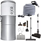 OVO Powerful Central Vacuum System - Heavy Duty Central Vac with Hybrid Filtration - 35L or 9.25Gal - 700 Airwatts Power…