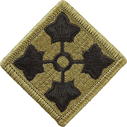 - 4th Infantry Division Scorpion / OCP Patch With Hook Fastener