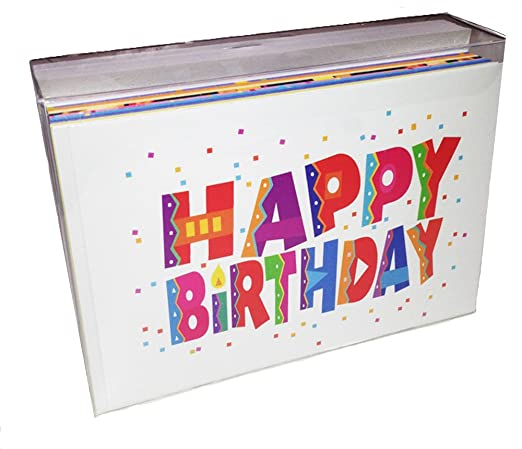 amazoncom birthday card assorted pack boxed set of 36 cards envelopes bulk business pack kitchen dining - Birthday Card Packs