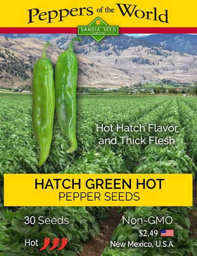 Hatch-Green-Hot-Chile-Seeds-30-Seeds-New-Mexico-Flavor-and-Thick-Flesh