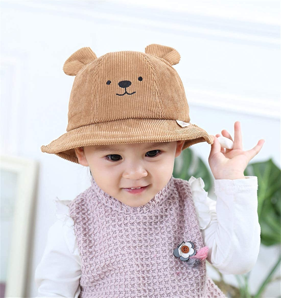 Usunny Kids Bucket Hat Toddler Girls Sun Hat Breathable Summer PlayHat