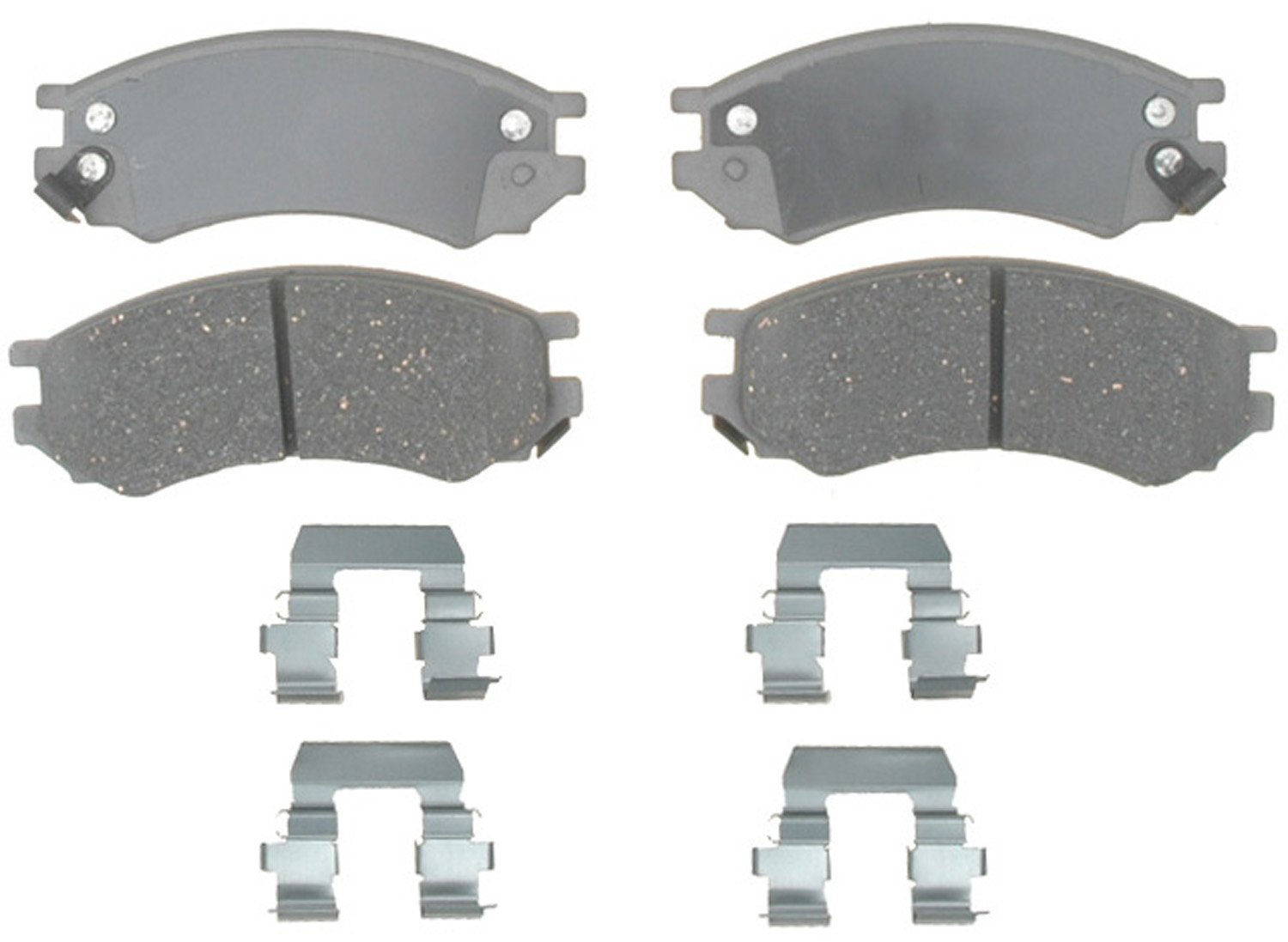 ACDelco 14D507CH Advantage Ceramic Front Disc Brake Pad Set with Hardware
