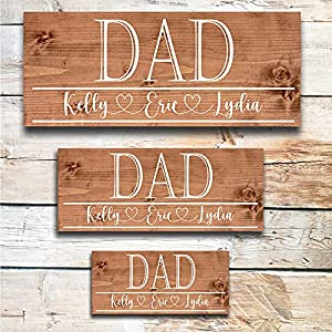 Great Father's Day Personalized Wooden Sign