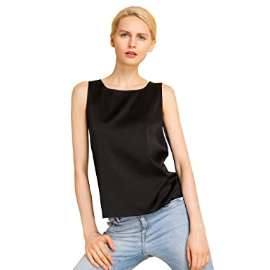 7131013e915aea LILYSILK Silk Tank Top Basic Square Collar Solid Pure Mulberry 19MM  Charmeuse Soft Fashion Basic Comfy Black Size XXL  Amazon.co.uk  Clothing