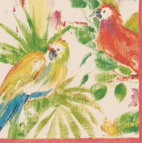 Luau Party Hawaiian Party Paper Napkins Cocktail Napkins Tropical Parrot