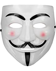 Oramics® VENDETTA Maske Mask Guy Fawkes Anonymous Replika Demo Anti -Karneval Maske Anti Acta Demo (1 Maske)