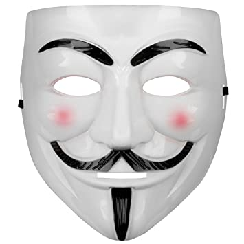 Máscara de Guy Fawkes V como for Vendetta Mask Anti Acta de movimiento