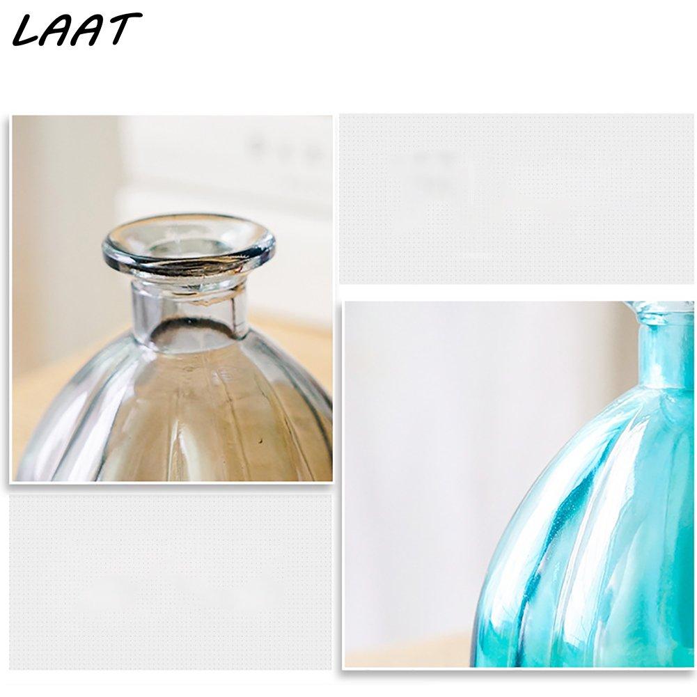 Laat Retro calabaza botellas de cristal jarrón decoración de boda/Casa/Hotel/banquet, cristal, transparente, Bas: 10 cm, Hauteur: 10.9cm , Calibre: 1.8 ...