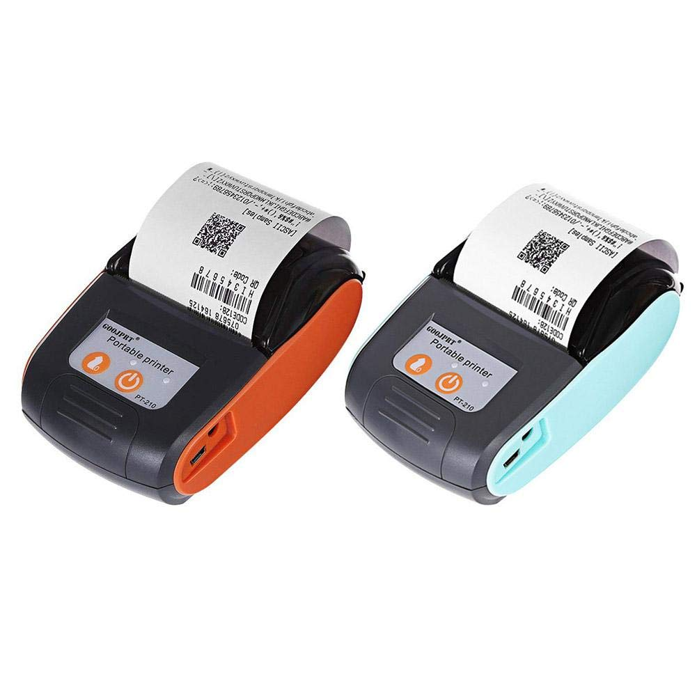 Alley.L Mini Impresora inalámbrica inalámbrica WiFi - Impresora térmica de Alta Velocidad Directa de Grado Comercial - Impresora portátil de Tickets ...