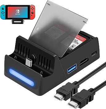 HEYSTOP Base de Carga para Nintendo Switch con Cable HDMI (Green): Amazon.es: Electrónica