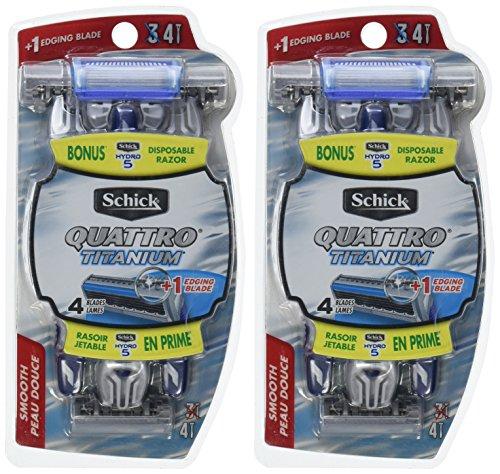 Schick Quattro Quattro Titanium for Men Smooth Disposable Razor - 3 ct - 2 pk