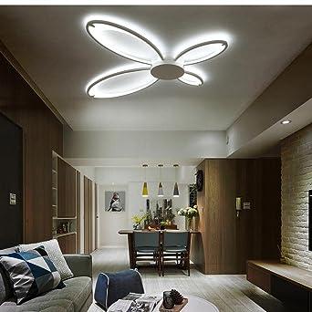 Bombilla LED de techo l¨¢mpara de techo regulable con mando a distancia contempor