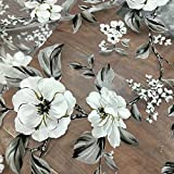 """55"""" Width Iris Tech Organza Vintage Botanical Floral Lace Fabric by the Yard"""