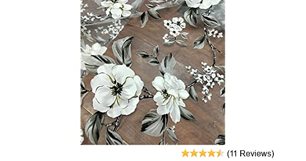 55 Width Iris Tech Organza Vintage Botanical Floral Lace Fabric by the Yard
