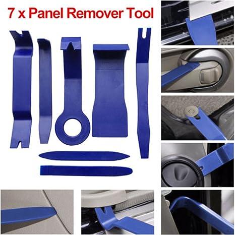 CARGOOL - Kit de herramientas de extracción de tapacubos de coche (7 piezas),