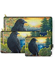 Society6 Bird 63 Crow Raven Carry-All Pouch