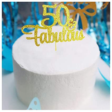 Amazon.com: Decoración para tarta de 50 cumpleaños con ...