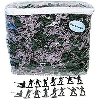 1000 Army Green and Gray Soldiers Play Set (1.75 inches)