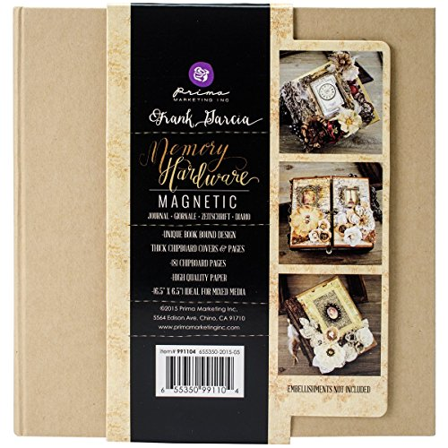 Prima Marketing Frank Garcia Memory Hardware Chip Album-Kraft Magnetic W/8 Pages, 6.5