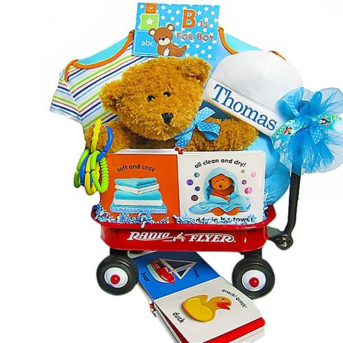 B Is For Boy Baby Wagon & Gift Basket