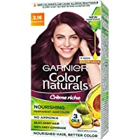 Garnier Color Naturals Crème hair color, Shade 3.16 Burgundy, 70ml + 60g