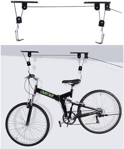 Lift Bike Bicycle Ceiling Mount Pulley Hoist Rack Garage Storage Hooks Hanger