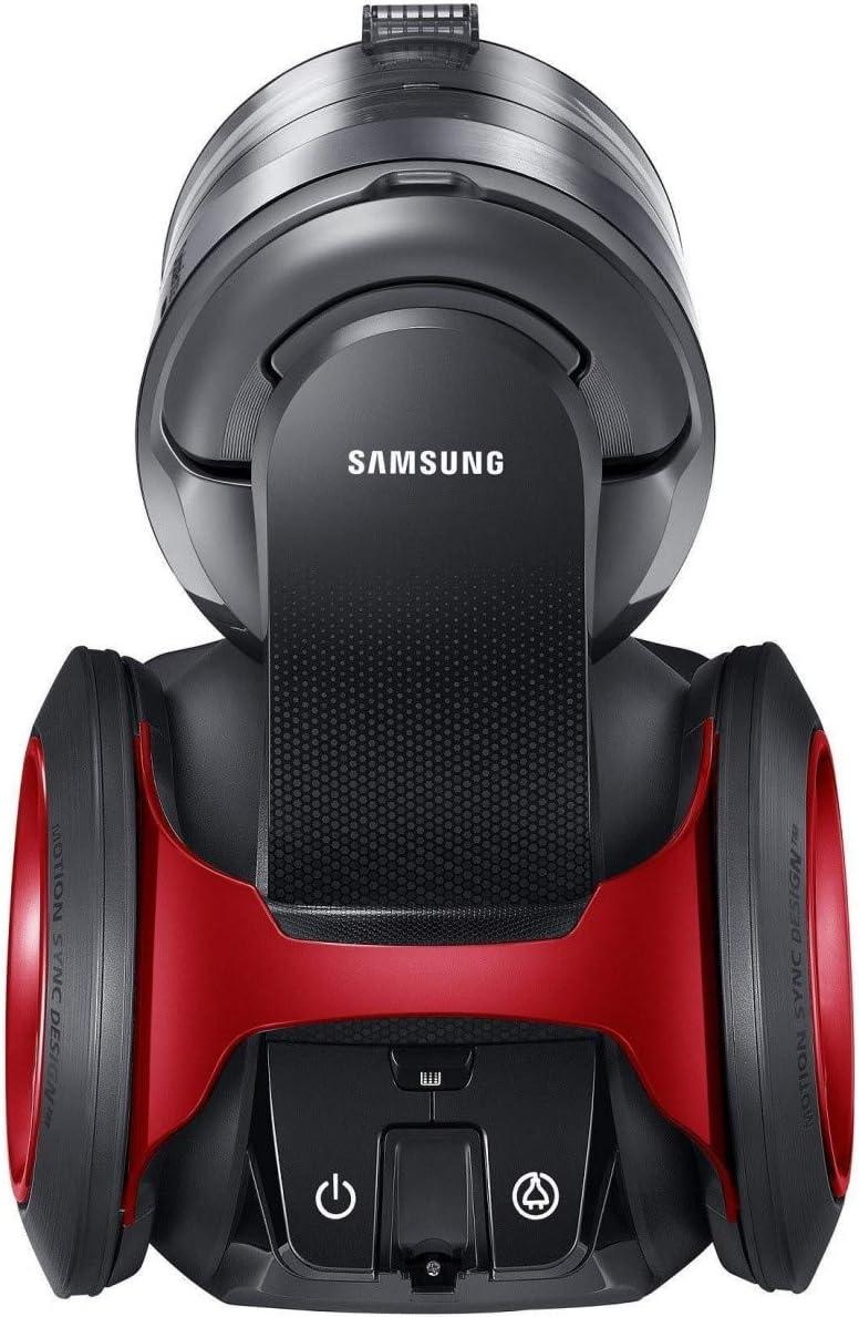 Samsung SC08F70HU 2L 850W Negro, Rojo - Aspiradora (850 W, Sin bolsa, 2 L, Negro, Rojo, Acero inoxidable, Telescópico): Amazon.es: Hogar