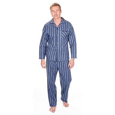 a0f1bcebfb Cargo Bay Men s Flannel Button Pyjama Set 100% Cotton PJ Nightshirt    Pants  Amazon.co.uk  Clothing