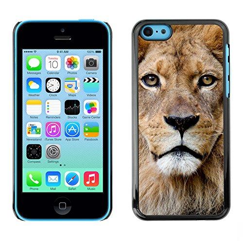 Premio Sottile Slim Cassa Custodia Case Cover Shell // V00002148 Portrait Lion // Apple iPhone 5C