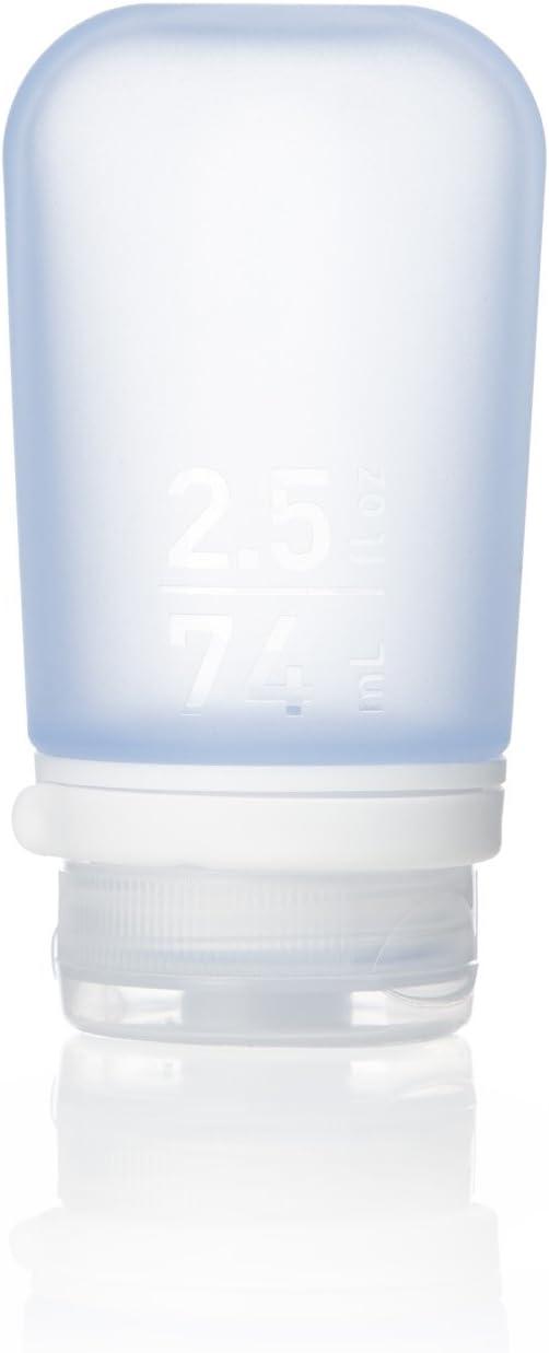 humangear GoToob+ Silicone Travel Bottle with Locking Cap, Medium (2.5oz), Blue