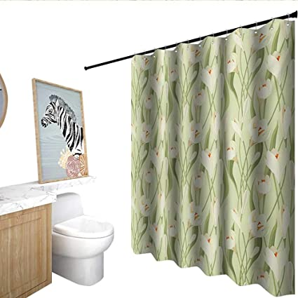 Homecoco Garden Art Floral Shower Curtain Spring Flowers Bouquet Crocuses  With Healthy Fresh Petals Botanical Bathroom