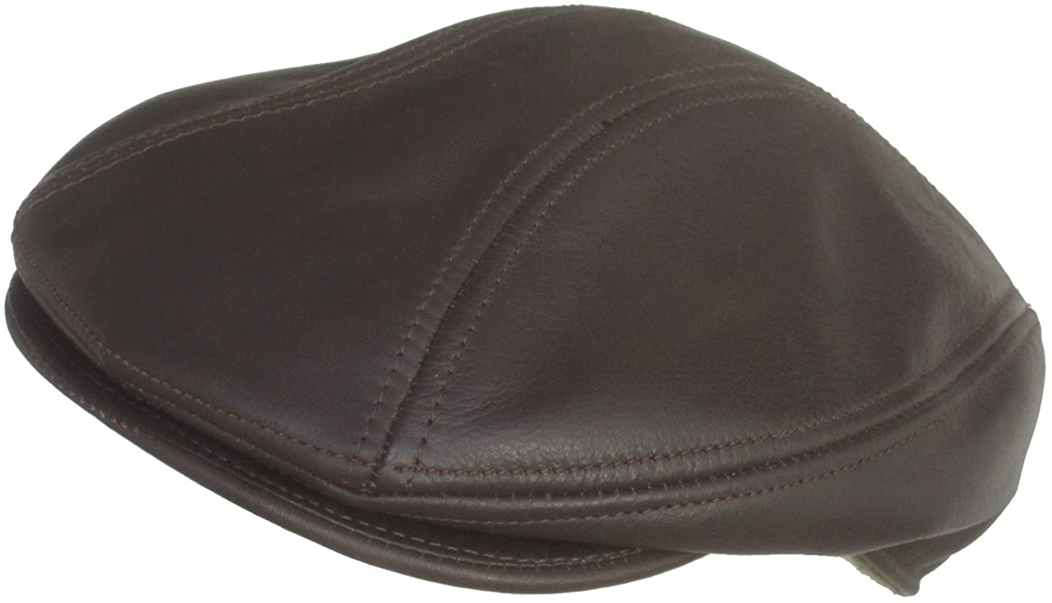 Broner Leather Euro Design Ivy Scally Cap (Chocolate Brown, M/L)