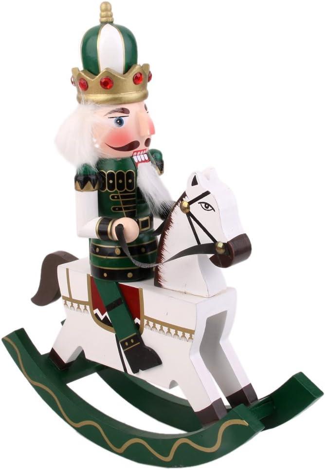 B Blesiya SCHIACCIANOCI in Legno Soldato su Cavallo A