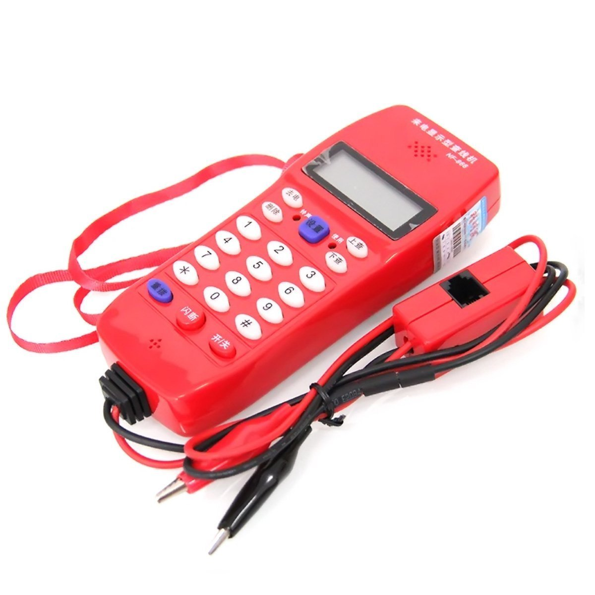 NF-866 Cable Tester Phone For Telephone Telecommunication, Check Phone DTMF Caller ID Auto Detection KLS