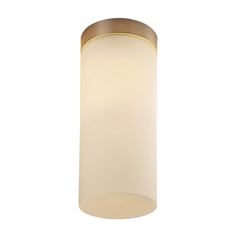 Lampenwelt Deckenleuchte'Miguel' dimmbar (spritzwassergeschützt) (Modern) in Weiß aus Metall u.a. für Badezimmer (1 flammig, E27, A++) | Bad-Deckenleuchte, Deckenlampe, Lampe, Badezimmerleuchte