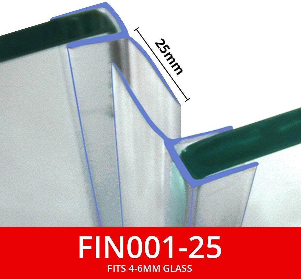 SMALL HNNHOME 1 METER BATH DOOR SHOWER SCREEN SOFT SEAL FITS UP TO 13mm GAP FOR ANY GLASS