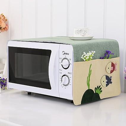 Cubierta del horno microondas cubierta a prueba de polvo microondas tapa cubre toallas cubierta del horno