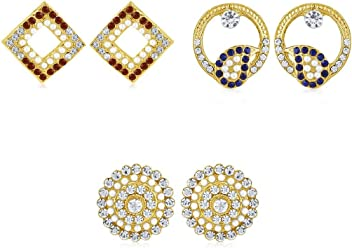 Sukkhi Copper Stud Earrings for Women (Golden) (CB70129GLDPD450)