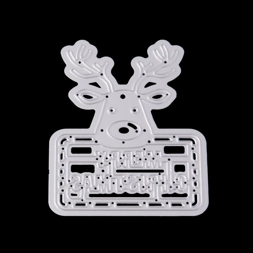 Bluestercool Navidad Acero al Carbono Relieve Troqueles de Corte Plantillas Molde para Bricolaje Scrapbooking /álbum de papel tarjeta Troqueles Scrapbooking Q