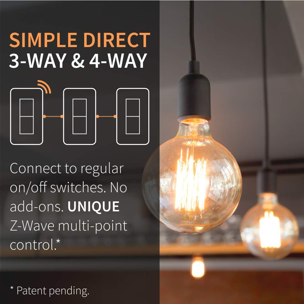 Zooz Z Wave Plus S2 On Off Wall Switch Zen26 With New Simple Direct Lighting Wiring Light Neutral Zwave Home 3 Way And 4 Works Existing Switches No Add Ons