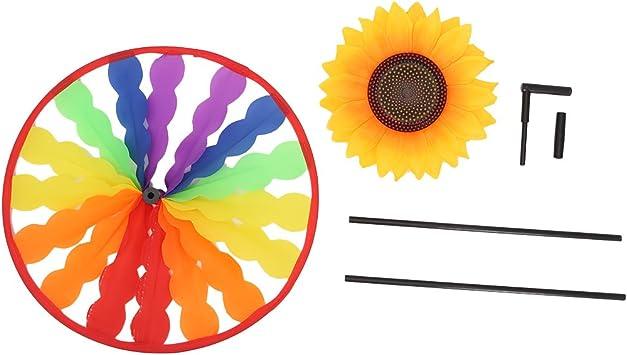 erticvtiu Girasol Molino Molino de Viento Spinner Viento Jardín Decoración de jardín Niños Niño Juguete: Amazon.es: Juguetes y juegos