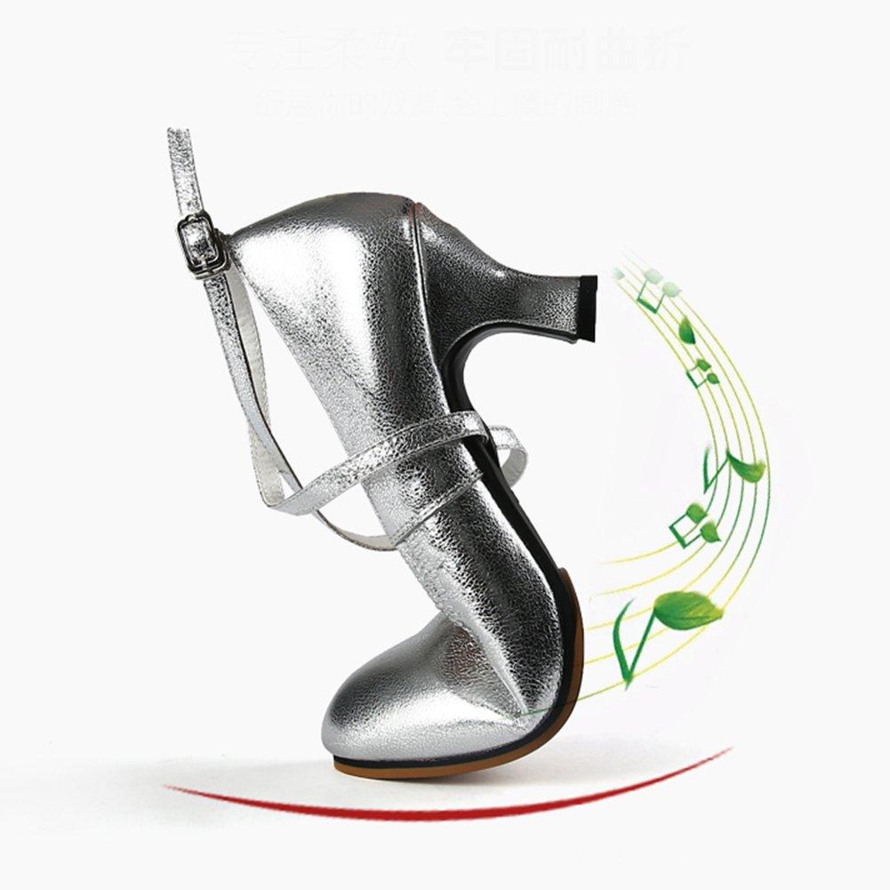 LIXIONG Tanzschuhe Damen Erwachsene mittlerer Absatz Weicher Weicher Weicher Boden Verschleißfest Absatzhöhe 6,5 cm, 3 Farben Modeschuhe (Farbe   Gold, größe   EU35 UK3.5 225) B07DPRK5GW Tanzschuhe Keine Begrenzung zu üben aa5669