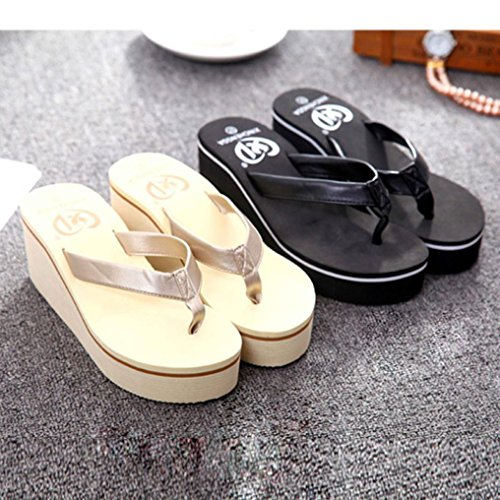 5c98e1788107b cheap Sikye Summer Sexy Flip Flops Women Bohemian High Platform Summer  Wedge Thong Slippers Women