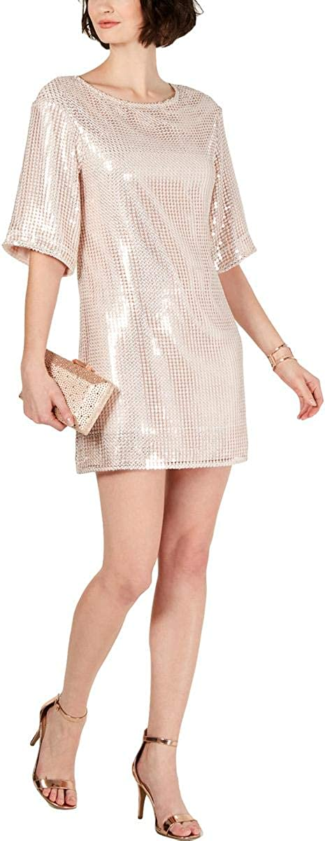 Laundry by Shelli Segal Womens Sequined Mini Cocktail Dress